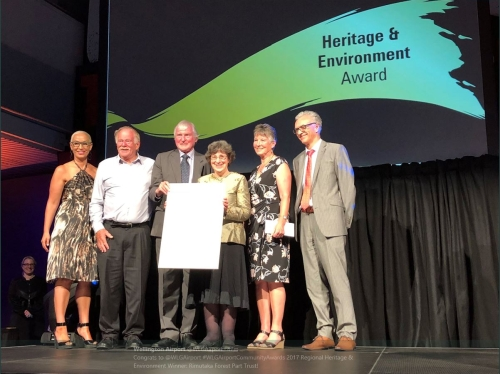 RFPT - Winners of the Regional Heritage & Environment Award at the 2017 Wellington Airport Regional Community Awards
